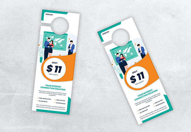 Door Hangers - Print Marketing Material through Broadmoor Print Solutions